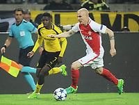 v.l. Ousmane Dembele, Andrea Raggi (Monaco)<br /> Dortmund, 12.04.2017, Fussball, Champions League, Viertelfinale Hinspiel, Borussia Dortmund - AS Monaco<br /> <br /> Norway only