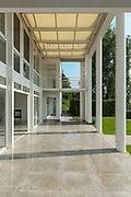 Architecture, wide veranda of a modern house, exterior