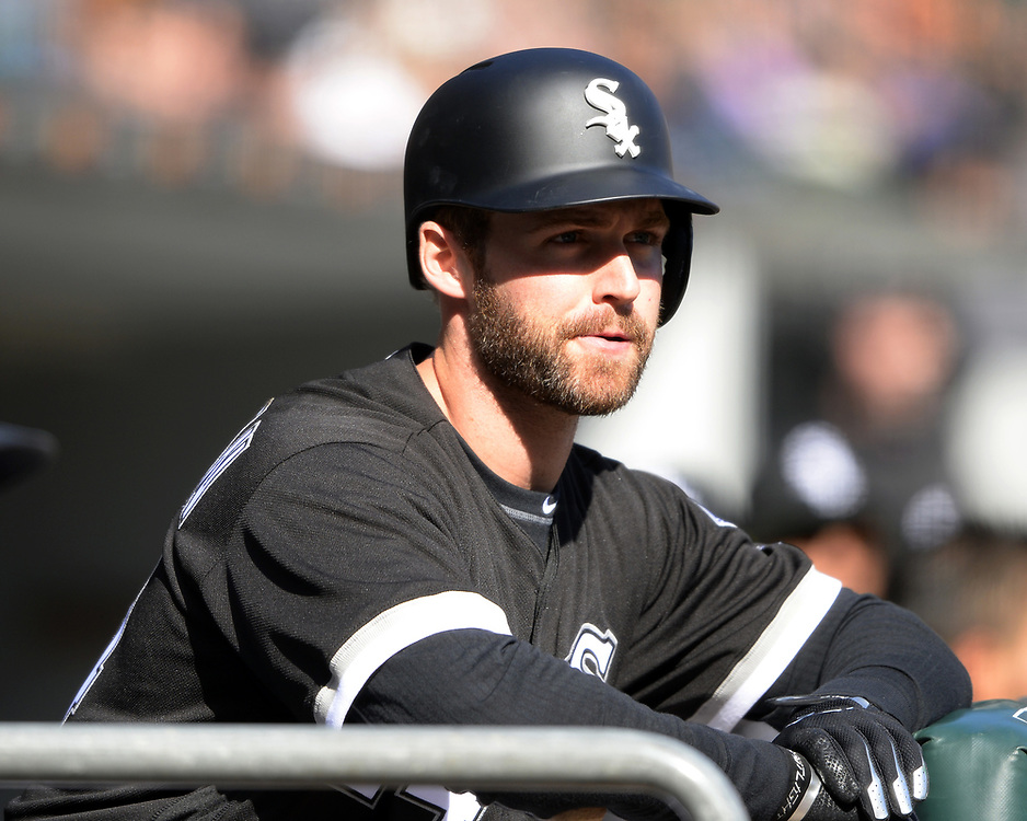 CHICAGO - APRIL 06:  Matt Davidson #24 of the Chicago White Sox looks on against the Detroit Tigers on April 6, 2017 at Guaranteed Rate Field in Chicago, Illinois.  The White Sox defeated the Tigers 11-2.  (Photo by Ron Vesely)   Subject:  Matt Davidson
