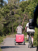 Cyclists at Le Martray, Île de Ré, France