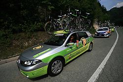 Car of Perutnina Ptuj during 1st stage of the 15th Tour de Slovenie from Ljubljana to Postojna (161 km) , on June 11,2008, Slovenia. (Photo by Vid Ponikvar / Sportal Images)/ Sportida)
