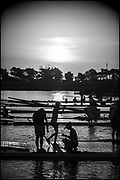Sarasota. Florida USA., Saturday,  02/10/2021, General View,  Early Morning, Sunrise, Crews boating for training session, 2017 FISA World Rowing Championships, Nathan Benderson Park,<br /> [Mandatory Credit. Peter SPURRIER/Intersport Images].<br /> <br /> 10:26:40