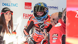 September 29, 2018 - 33, Marco Melandri, ITA, Ducati Panigale R, Aruba.it Racing - Ducati, SBK 2018, MOTO - SBK Magny-Cours Grand Prix 2018, Free Practice 4, 2018, Circuit de Nevers Magny-Cours, Acerbis French Round, France ,September 29 2018, action during the SBK Free Practice 4 of the Acerbis French Round on September 29 2018 at Circuit de Nevers Magny-Cours, France (Credit Image: © AFP7 via ZUMA Wire)