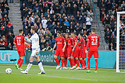 Marcos Aoas Correa dit Marquinhos (PSG) scored a goal from the decisive ball gaved from Giovani Lo Celso (PSG) and celebrated it with Maxwell Scherrer Cabelino Andrade (psg), Marcos Aoas Correa dit Marquinhos (PSG), Goncalo Guedes (PSG), Edinson Roberto Paulo Cavani Gomez (psg) (El Matador) (El Botija) (Florestan), Thomas Meunier (PSG), Blaise Mathuidi (psg), Julian Draxler (PSG), Jean-Louis LECA (SC Bastia) during the French championship Ligue 1 football match between Paris Saint-Germain (PSG) and Bastia on May 6, 2017 at Parc des Princes Stadium in Paris, France - Photo Stephane Allaman / ProSportsImages / DPPI