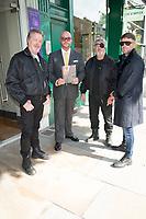Ian Ogilvy, Jonathan Sothcott, Billy Murray, Danny Bear, on the set of Renegades ,Upper Street Islington<br /> .
