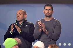 Rob Kearney (right) and Rory Best in the stands during the Autumn International at the Aviva Stadium, Dublin.