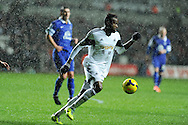 Roland Lamah of Swansea city in action. Barclays Premier league, Swansea city v Everton at the Liberty Stadium in Swansea,  South Wales on Sunday 22nd Dec 2013. pic by Andrew Orchard, Andrew Orchard sports photography.
