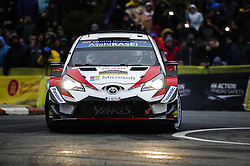 October 28, 2018 - Barcelona, Catalonia, Spain - The Estonian driver Ott Tnak and his co-driver Martin Jrveoja, of Toyota Gazoo Racing WRT during the last day of WRC Rally Racc Catalunya Costa Daurada, on October 28, 2018 in Salou, Spain. (Credit Image: © Joan Cros/NurPhoto via ZUMA Press)