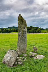 Standing stone at Nether Largie at Kilmartin in Argyll and Bute , Scotland , United Kingdom