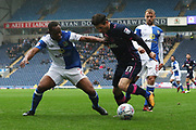 Matthew Kennedy with the ball off Derrick Williams during the EFL Sky Bet League 1 match between Blackburn Rovers and Portsmouth at Ewood Park, Blackburn, England on 21 October 2017. Photo by George Franks.