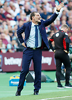 Football - 2016 / 2017 Premier League - West Ham United vs. AFC Bournemouth<br /> <br /> West Ham Manager Slaven Bilic points from the touchline at The London Stadium.<br /> <br /> COLORSPORT/DANIEL BEARHAM