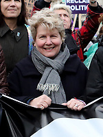 Sandi Toksvig at March4Women 2020 rally at Southbank Centre on March 08, 2020 in London, England. The event is to mark International Women's Day photo by Roger Alarcon