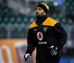 Lima Sopoaga of Wasps warms up - Mandatory by-line: Andy Watts/JMP - 08/01/2021 - RUGBY - Recreation Ground - Bath, England - Bath Rugby v Wasps - Gallagher Premiership Rugby