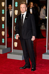 © Licensed to London News Pictures. 18/02/2018. TOBY JONES arrives on the red carpet for the EE British Academy Film Awards 2018, held at the Royal Albert Hall, London, UK. Photo credit: Ray Tang/LNP