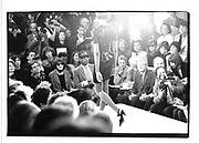 Anna Wintour and Andre Leon Talley. Calvin Klein show. New York. 1990. © Copyright Photograph by Dafydd Jones 66 Stockwell Park Rd. London SW9 0DA Tel 020 7733 0108 www.dafjones.com