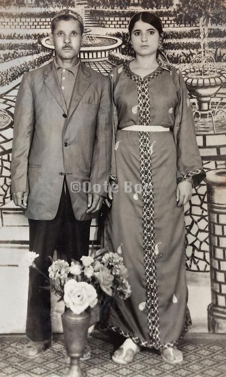 Morocco husband and wife studio portrait 1971