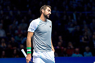 Marin Cilic of Croatia  frustrated during the Nitto ATP World Tour Finals at the O2 Arena, London, United Kingdom on 16 November 2018. Photo by Martin Cole