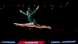 Ireland's Meaghan Smith on the beam during day one of the 2018 European Championships at The SSE Hydro, Glasgow.
