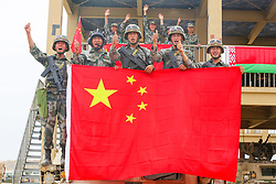 August 1, 2018 - Xinjiang, China - The air defense missile soldier skill contest is held in northwest China's Xinjiang. (Credit Image: © SIPA Asia via ZUMA Wire)