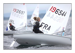 Mathilde de Kerangat, FRA 196544.Day 2 brought Easterly changeable conditions for the Laser Radial World Championships, taking place at Largs, Scotland GBR. ..118 Women from 35 different nations compete in the Olympic Women's Laser Radial fleet and 104 Men from 30 different nations. .All three 2008 Women's Laser Radial Olympic Medallists are competing. .The Laser Radial World Championships take place every year. This is the first time they have been held in Scotland and are part of the initiaitve to bring key world class events to Britain in the lead up to the 2012 Olympic Games. .The Laser is the world's most popular singlehanded sailing dinghy and is sailed and raced worldwide. ..Further media information from .laserworlds@gmail.com.event press officer mobile +44 7775 671973  and +44 1475 675129 .