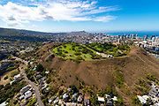 Punchbowl, National Memorial Cemetery of the Pacific, Honolulu, Oahu, Hawaii