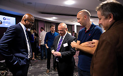 Kriss Akabusi mingles with guests after his talk at the Bristol Sport Big Breakfast- Mandatory by-line: Robbie Stephenson/JMP - 29/07/2016 - FOOTBALL - Ashton Gate - Bristol, England - Bristol Sport Big Breakfast - Kriss Akabusi
