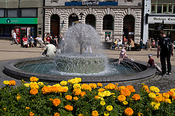 Dover/Kent/England - Fountain in Market Square. Dover is a major port on the south-east coast of England. Situated in the county of Kent, it faces France across the English Channel.