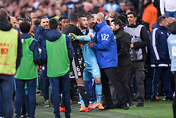 March 18, 2018 - Marseille, France - 01 ANTHONY LOPES (OL) - COLERE - ALTERCATION (Credit Image: © Panoramic via ZUMA Press)
