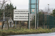 Customs posts at Northern Ireland border south of Newry. The Republican Irish people do not recognise Ireland as being separated by borders, as they don't use the word London just Derry. There are over a hundred 'peace walls' or security barriers dotted around Northern Ireland. In some areas the barriers are coming down. However with the possibility of Brexit and hard borders the problems existing between communities can escalate, the Good Friday Agreement scuppered and violence threatens to come back