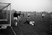 21/11/1964<br /> 11/21/1964<br /> 21 November 1964<br /> <br /> Hockey Ulster V. Connacht at Londonbridge Rd.<br /> <br /> Connacht Keeper David Begg the keeper for Connacht just misses a shot