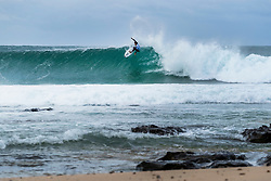 Michael February (ZAF) will surf in Round 2 of the 2018 Corona Open J-Bay after placing third in Heat 1 of Round 1 at Supertubes, Jeffreys Bay, South Africa.