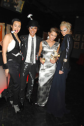 Left to right, CYNTHIA WOO, ANDY WONG, JOY VORRELLO and KALITA AL-SWAIDI  at Andy & Patti Wong's Chinese new Year party held at County Hall and Dali Universe, London on 26th January 2008.<br /><br />NON EXCLUSIVE - WORLD RIGHTS