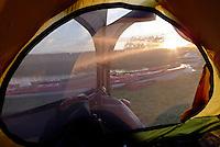 Kayaks seen from the tent - kajakker sett fra teltet