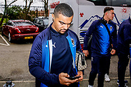 Wimbledon forward Kwesi Appiah (9) arrives during the The FA Cup 3rd round match between Fleetwood Town and AFC Wimbledon at the Highbury Stadium, Fleetwood, England on 5 January 2019.