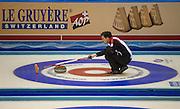 "Glasgow. SCOTLAND. Swiss, ""Skip"", Peter DE CRUZ, during the  ""Round Robin"" Games. Le Gruyère European Curling Championships. 2016 Venue, Braehead  Scotland<br /> Monday  21/11/2016<br /> <br /> [Mandatory Credit; Peter Spurrier/Intersport-images]"