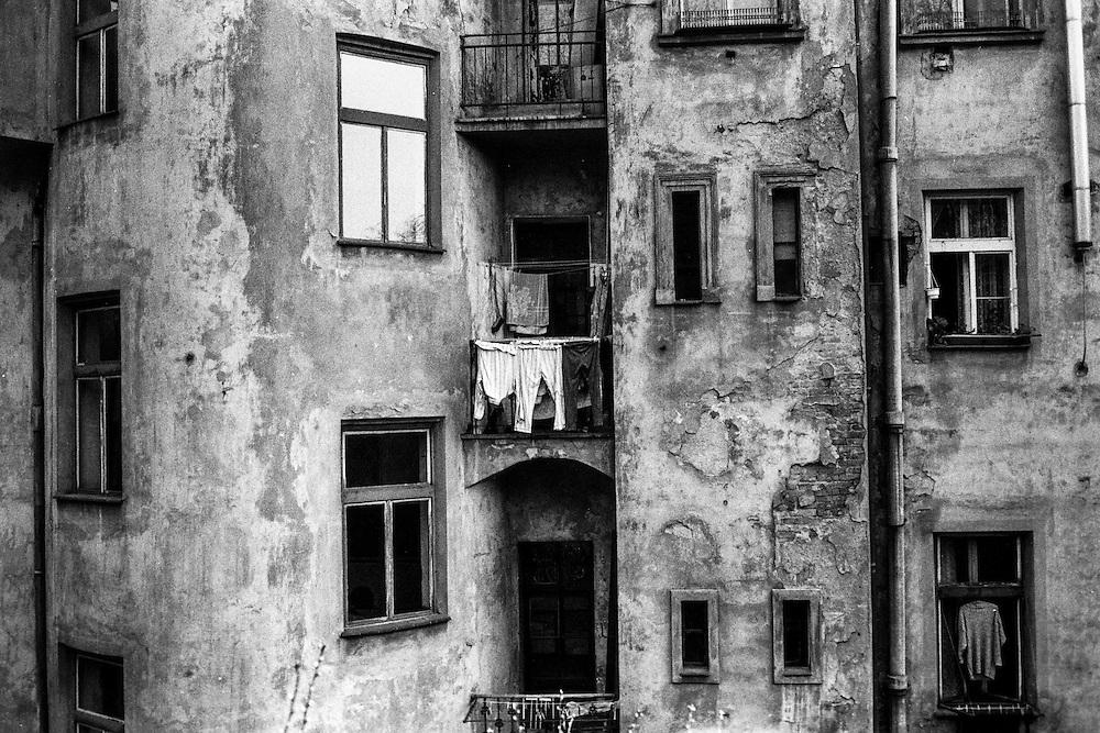 Backside of a housing complex in Zizkov.