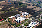 Aerial photograph of Promega Corporation, a biotechnology firm in Fitchburg, Wisconsin, USA.