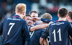 Falkirk's Mark Millar celebrates after scoring their fourth goal.<br /> Raith Rovers 2 v 4 Falkirk, Scottish Championship game today at Starks Park.<br /> © Michael Schofield.