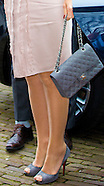 Queen Maxima attends meeting NIBUD, Utrecht 06-03-2015