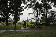 """Szczurowa where 93 Roma were murdered by Nazis. Only five people survived the massacre. The Nazis went to eat with the Polish police, and at that point they were told by Polish Police to run away. Szczurowa near Tarnow, Poland 1943..Roma Holocaust """"Porrajmos"""", the Roma word means literally """"the devouring"""", where it is estimated that between 500 thousand and one and a half million Roma were exterminated across Germany, Poland, ex-Yugoslavia and Czechoslovakia during the 1930s and 1940s. The Roma were the first race to be subjected to experimentation by the Nazis, as part of Joseph Goebbels' 'Final Solution'."""