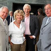 NLD/Hilversum/20070817 - Straten rond het Mediapark Hilversum vernoemd, Nico Knapper, Martine Bijl en partner Berend Boudewijn, oud NOS voorzitter