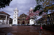 Strolling on Casco Antiguo area in Panama City. This old neighborhood is a UNESCO World Heritage site