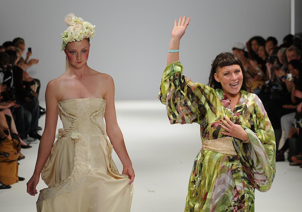 Models walk the runway for Carlotta Actis Barone Spring 2012 fashion show during London Fashion Week, London, UK. 17/09/2011 Anne-Marie Michel/CatchlightMedia
