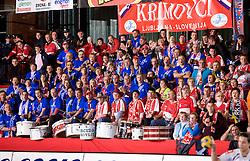 Fans Krimovci at handball match of Round 5 of Champions League between RK Krim Mercator and Metz Handball, France, on January 9, 2010 in Kodeljevo, Ljubljana, Slovenia. (Photo by Vid Ponikvar / Sportida)