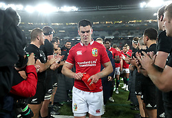 British and Irish Lions' Johnny Sexton leaves the field after the final whistle during the first test of the 2017 British and Irish Lions tour at Eden Park, Auckland.
