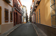 Backstreets in the Triana district, Seville, Spain