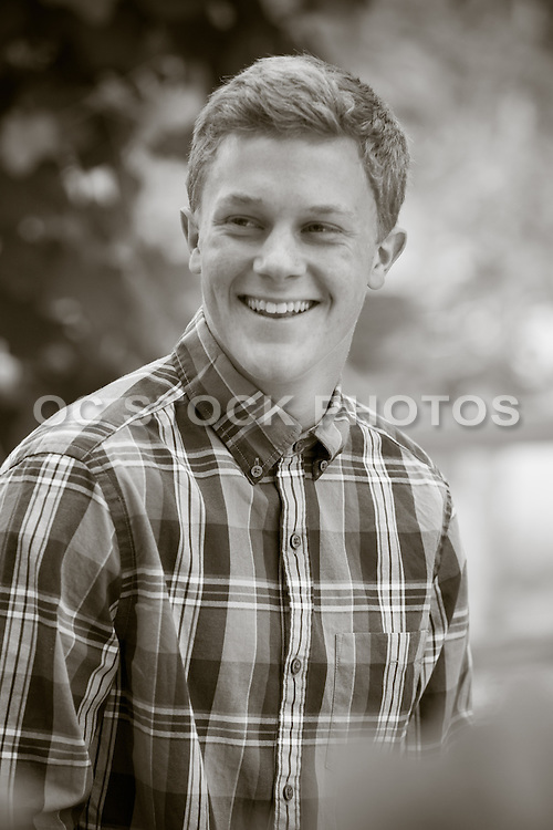 Handsome Young Adult Smiling