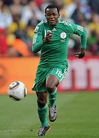 Fotball<br /> VM 2010<br /> 12.06.2010<br /> Argentina v Nigeria<br /> Foto: Witters/Digitalsport<br /> NORWAY ONLY<br /> <br /> Victor Obinna (Nigeria)<br /> Fussball WM 2010 in Suedafrika, Vorrunde, Argentinien - Nigeria