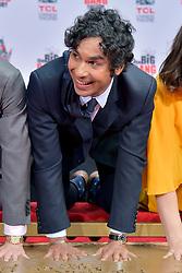 May 1, 2019 - Los Angeles, Kalifornien, USA - Kunal Nayyar bei der Handprints Ceremony am TCL Chinese Theatre Hollywood. Los Angeles, 01.05.2019 (Credit Image: © Future-Image via ZUMA Press)