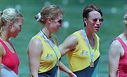 Lucerne, Switzerland. 1995 FISA WC III, Lake Rotsee, Lucerne,<br /> AUS W2-. left. Kate SLATTER and Megan STILL.<br /> [Mandatory Credit. Peter SPURRIER/Intersport Images]<br /> <br /> Image scanned from Colour Negative